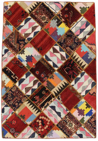 Patchwork Persian Rug 216x148