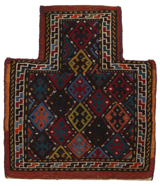 Qashqai - Saddle Bag Persian Rug 44x39