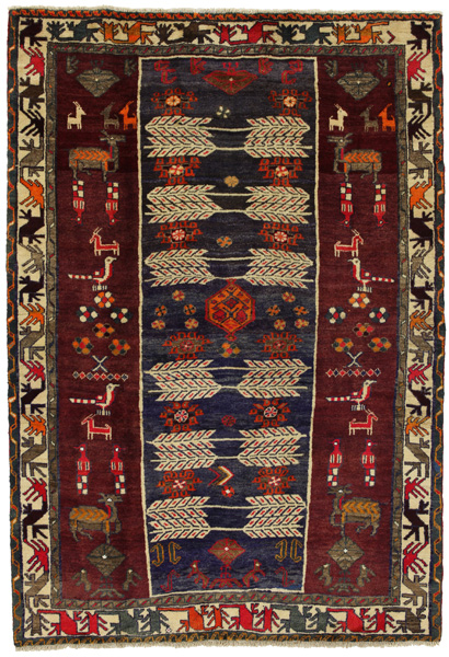 Gabbeh - Bakhtiari Persian Carpet 233x160