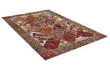 Patchwork Persian Rug 256x168 - Picture 1