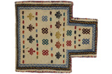 Qashqai - Saddle Bag Persian Rug 44x39 - Picture 1